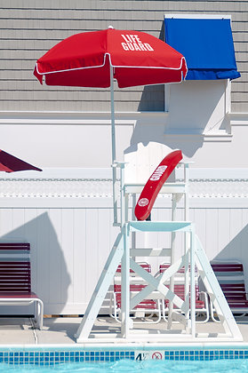 6.5' HEX Modern Fiberglass Pole Lifeguard Umbrella