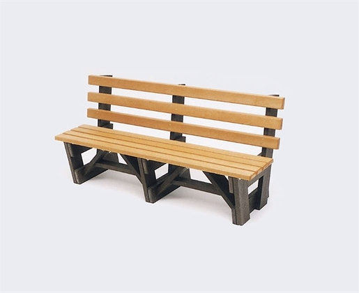 6' Boardwalk Bench with Back