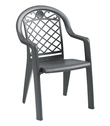 Savannah Stacking Armchair - Charcoal