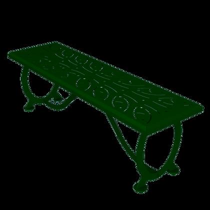 """60"""" Outdoor Steel Bench Green"""