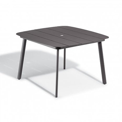 """Eiland 45"""" Square Dining Table - Carbon"""