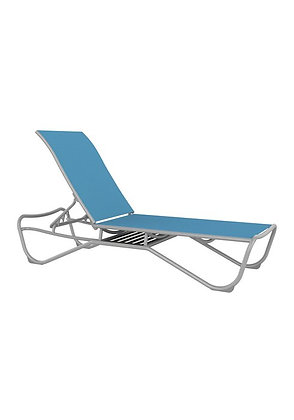 Millennia Relaxed Sling Armless Chaise Lounge with Shelf