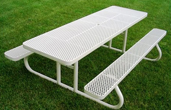 8' Champion Rectangle Expanded Metal Table