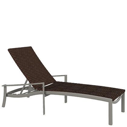 KOR Woven Chaise Lounge with Arms