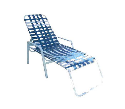 Regal Strap Crossweave Chaise Lounge