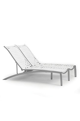 South Beach EZ Span Armless Double Chaise Lounge
