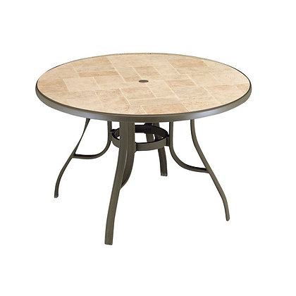 "Toscana 48"" Round Table with metal legs"