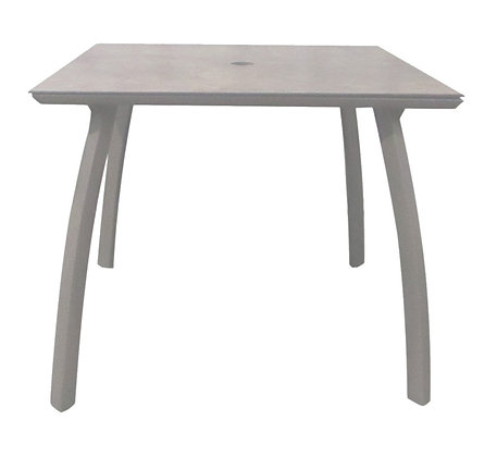 "Sunset 36"" Square Table Base with Table Top Gray"
