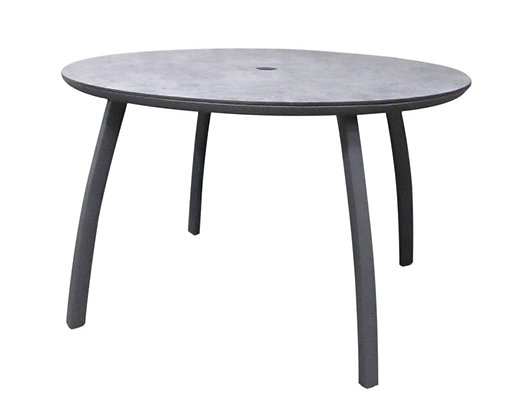 "Sunset 42"" Round Table Base with Table Top Black"