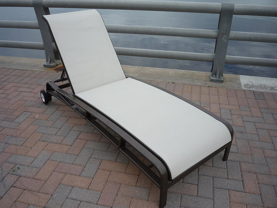 Eclipse Sling Chaise Lounge with Wheels