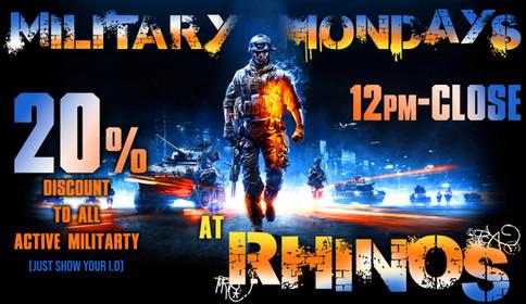 RHINOS - Military Mondays PROMO POSTER.j