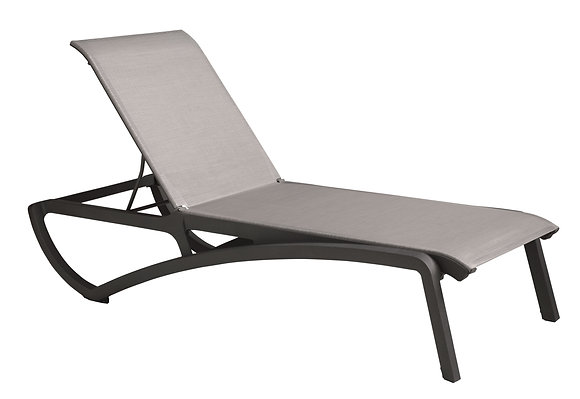Sunset Sling Chaise Lounge - Black/Gray