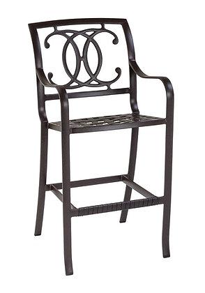 Palladian Cast Aluminum Barstool double c-back