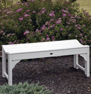 Backless Recycled Plastic Bench