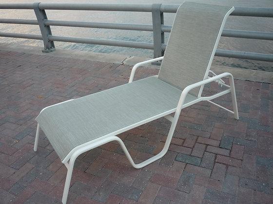 Island Breeze Sling Chaise Lounge Sled Bottom