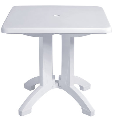 "Vega 32"" Square folding Table - White"