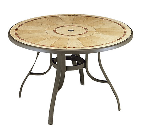 "Louisiana 48"" Round Table with metal legs"