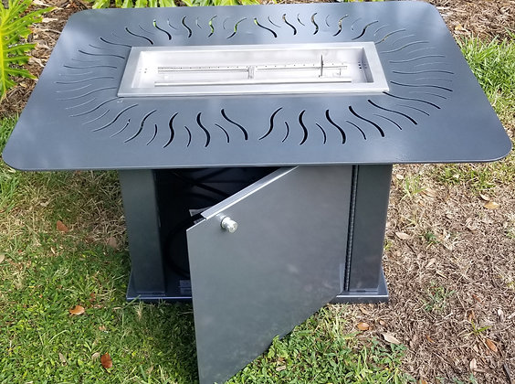 Fire Pit with Aluminum Cabinet