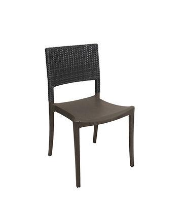 Java Resin Wicker Sidechair Charcoal