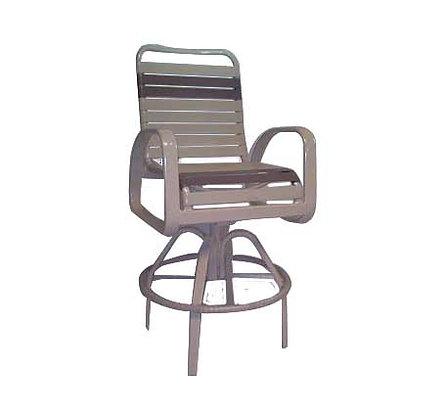 Eclipse Strap Swivel Bar Chair