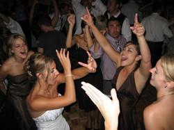 Bride & friends dancing