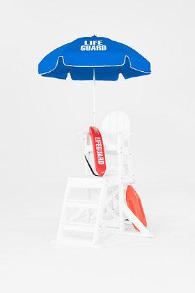6.5' HEX Classic Steel Pole Lifeguard Umbrella