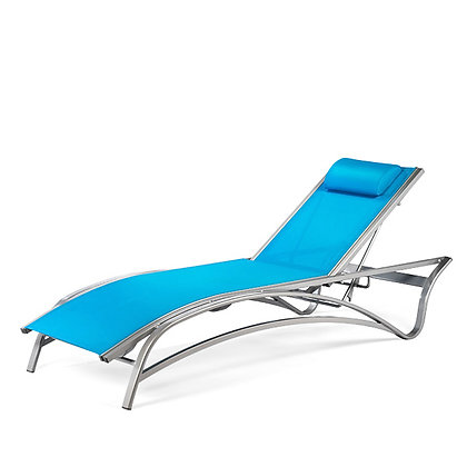 Maui Sling Stacking Chaise Lounge with Adjustable Back