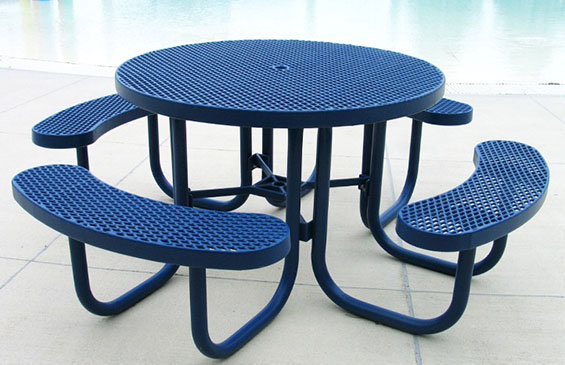 Champion 4' Round Expanded Metal Free Standing