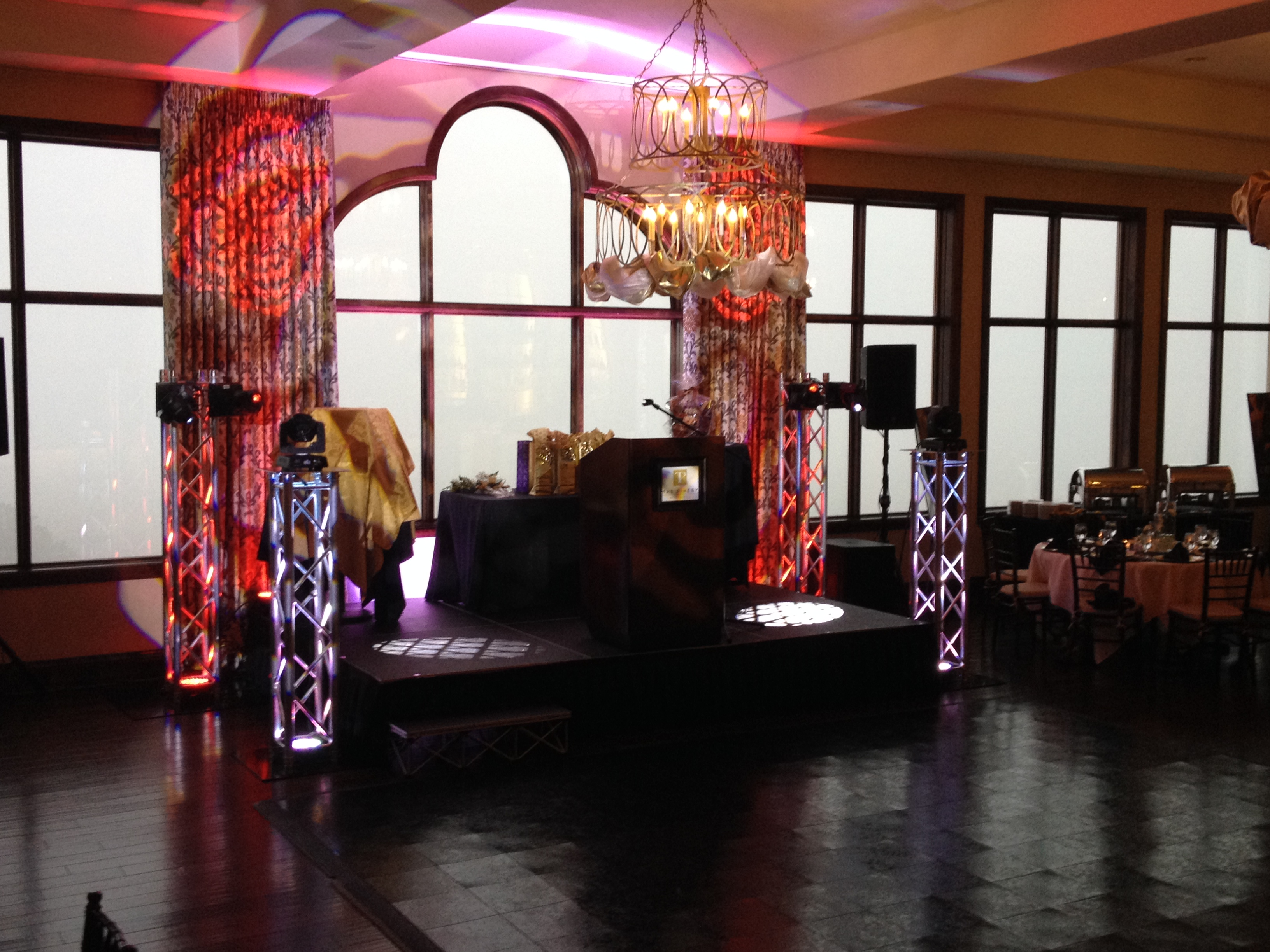 Corporate fundraiser setup