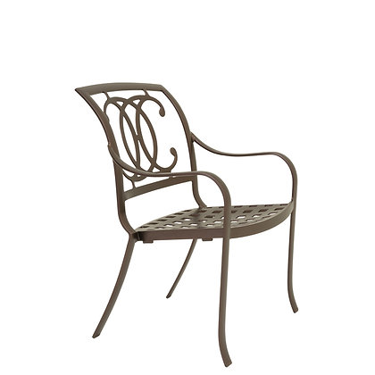 Palladian Cast Aluminum Stacking Dining Chair double c-back