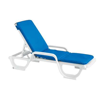 Bahia Chaise Lounge Cushion with Hood - Royal blue