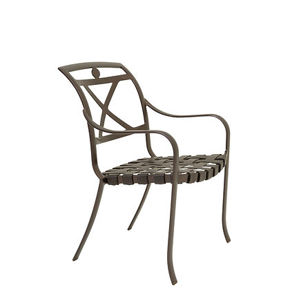 Palladian X-Back Strap Dining Chair