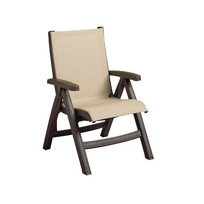Belize Midback Folding Chair Khaki with Bronze Mist Frame