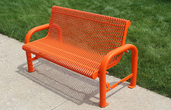 Grand Contour Memorial  Bench With Back Free Standing
