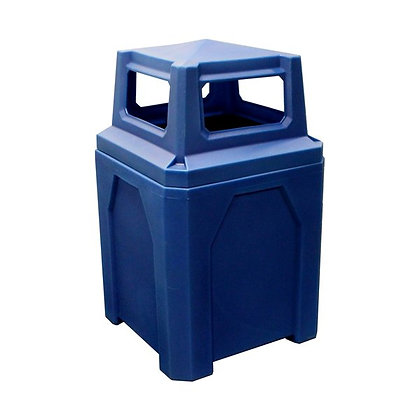 52 Gallon Square Trash Receptacle 4-Way Top Assembly