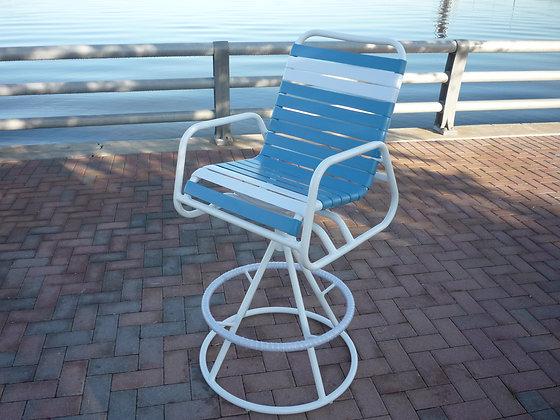 Classic Strap Swivel Bar Chair