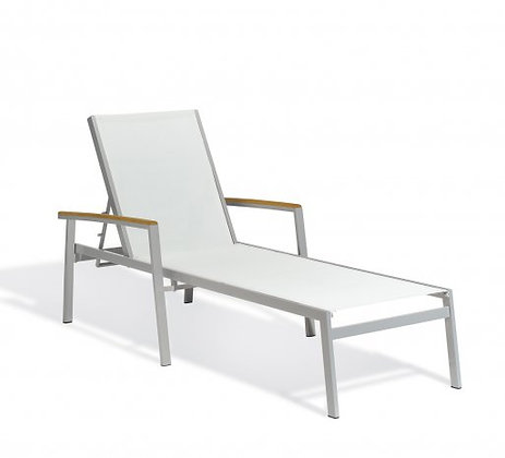 Travira Chaise Lounge Composite Sling Seat/Back White