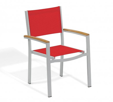 Travira Armchair Red Composite Sling Seat/Back