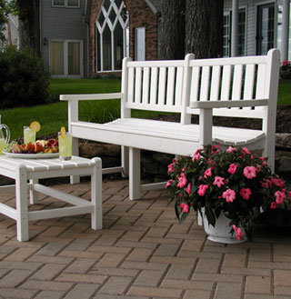 Traditional Recycled Plastic Bench (White)