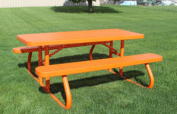 6' Champion Rectangle Expanded Metal Free Standing Table