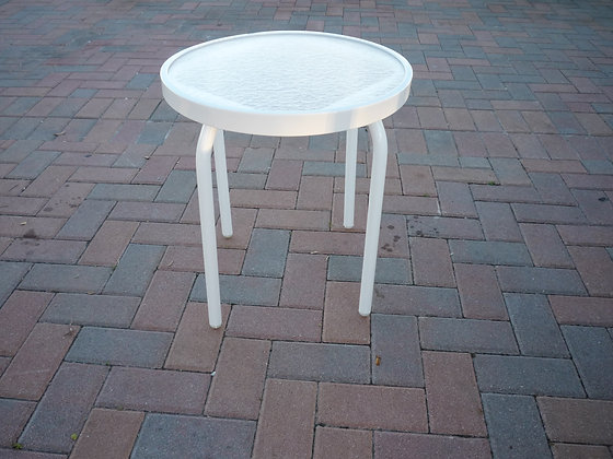 """18"""" Round Acrylic Top End Table"""