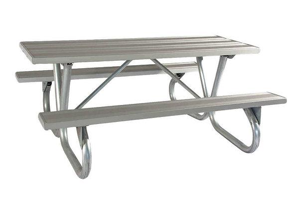 8'BG Series Aluminum Picnic Table