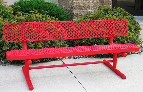 Champion Park Bench Expanded Metal Free Standing