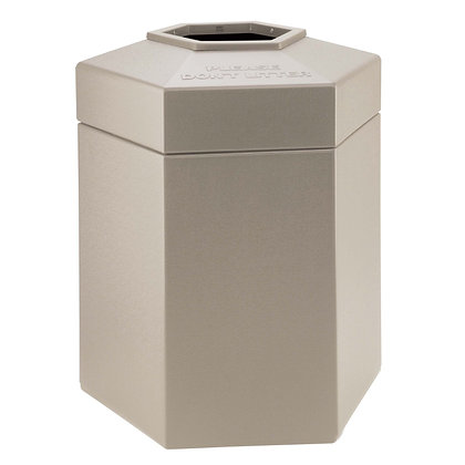 45 Gallon Hex Waste Receptacle