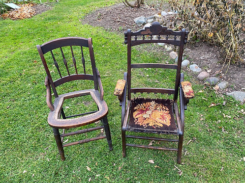 Two Antique Project Chairs