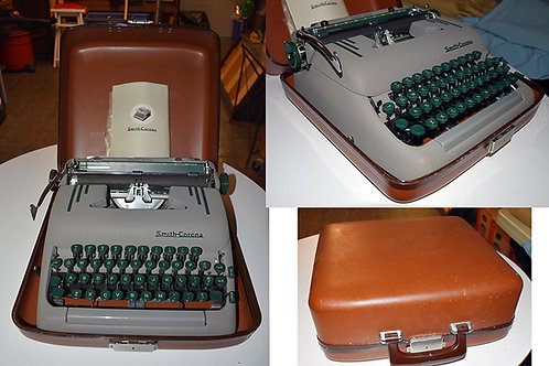 "Vintage Smith Corona ""Silent Super"" Typewriter with Case"