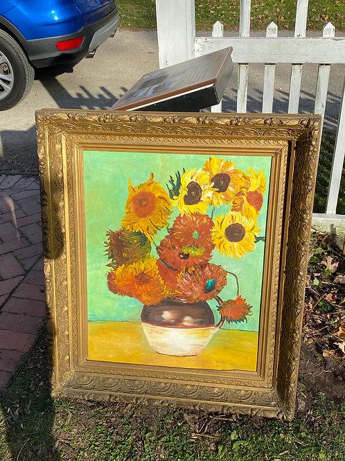 Original Sunflower Painting