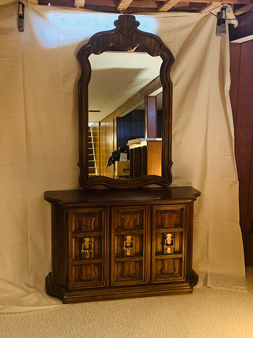 Drexel Heritage Console and Mirror