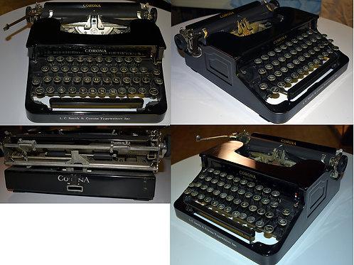 Vintage Corona Typewriter