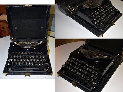 Remington portable typewriter with case